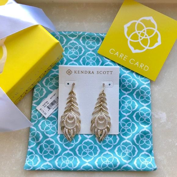 54906a1e4 Kendra Scott Jewelry   Elettra Gold Statement Earrings   Poshmark